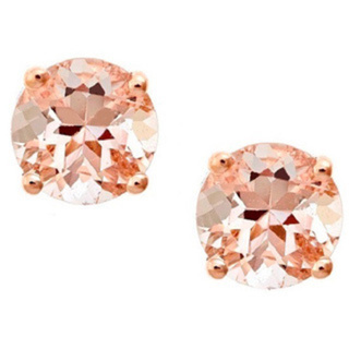 Anika and August14K Rose Gold Morganite Stud Earrings