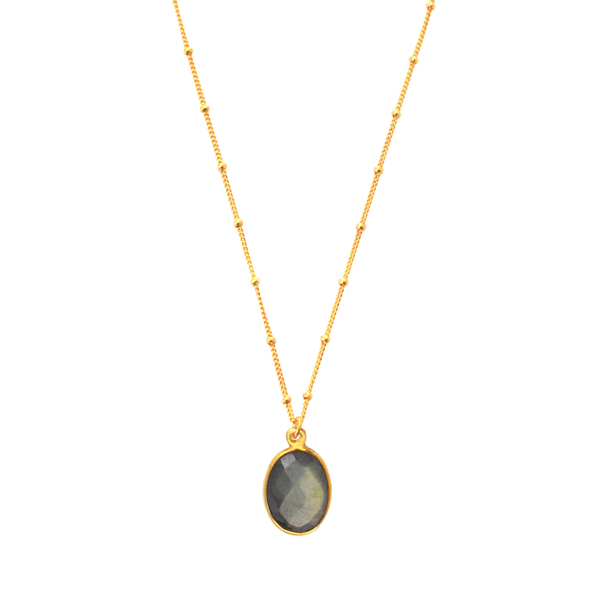 Alchemy Jewelry Gold Overlay Labradorite Pendant Necklace