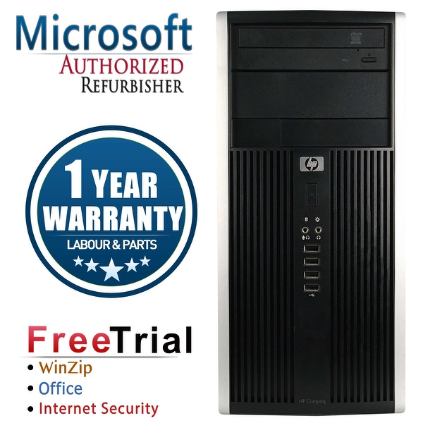 Refurbished HP Compaq 6000 Pro Tower Intel Core 2 Quad Q6600 2.4G 8G DDR3 1TB DVDRW Win 7 Pro 64 Bits 1 Year Warranty - Black