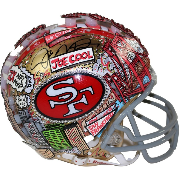Joe Montana Signed 49ers Mini Helmet w/ Fazzino Pop Art