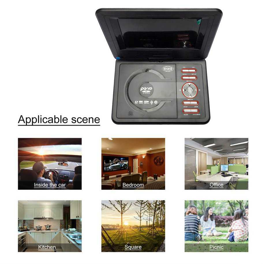 Car Cd Player 7.8 Inch Ultra-Thin Hd Mobile Dvd Player Hi-Speed Usb Game Dvd Player