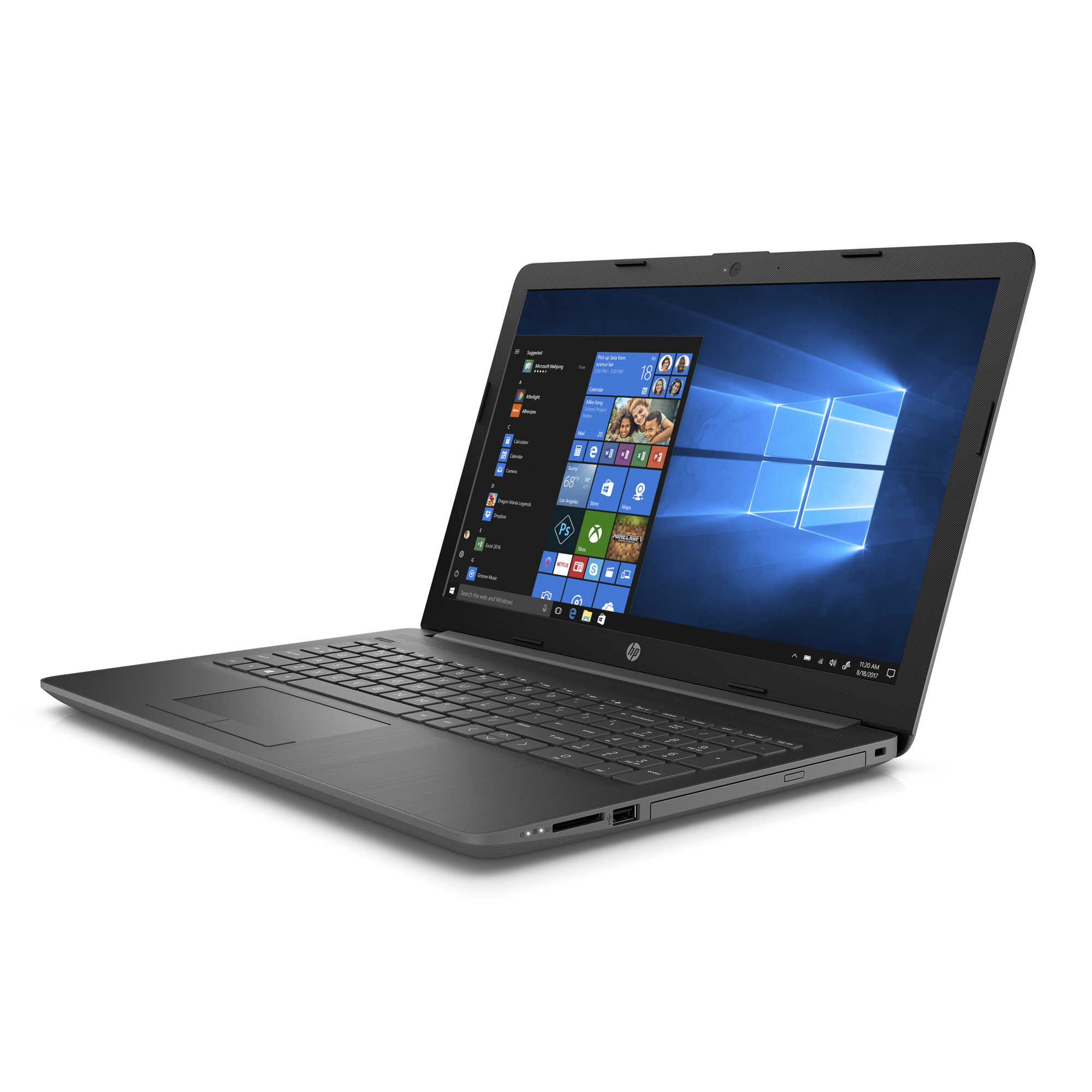 HP 15-DB0020NR, Smoke Gray 15.6 inch Laptop, Windows 10, A6-9225 DC Processor, 4GB memory, 1TB Hard Drive, UMA Graphics, DVD